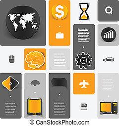 educación, pegatina, infographic