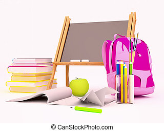 educación, plano de fondo, concept.