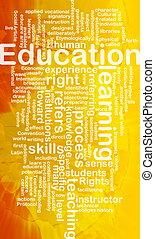 educación, plano de fondo, concepto