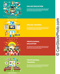 educación, profesional, educación, en línea