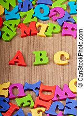 educación temprana, concepto, con, cartas