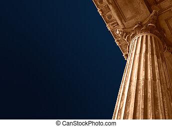 educación, tribunal, o, columnas