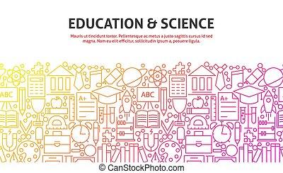 educación, y, ciencia, concepto