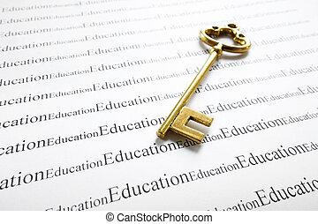 educación, y, llave