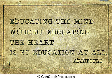 educating heart print - Educating the mind without - ancient...