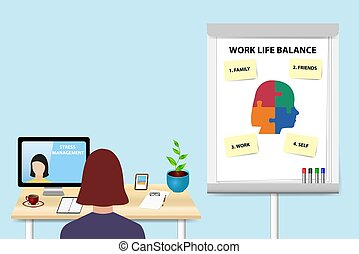 Educating work life balance concept vector