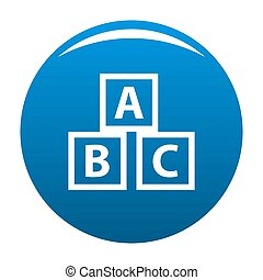 Education abc blocks icon blue