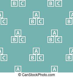 Education abc blocks pattern seamless blue