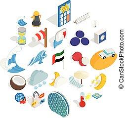 Education abroad icons set, isometric style - Education...