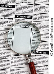 Education Ad - Fake Classified Ad, newspaper, Education...