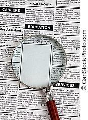 Education Ad - Fake Classified Ad, newspaper, Education...