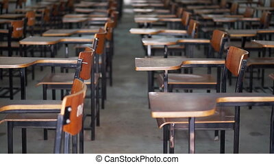 education and competition exam room - video of empty test...