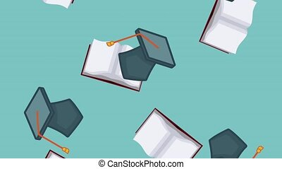 Education and graduation background HD animation -...