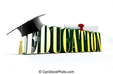 education and graduation cap