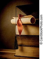 Education and Graduation Concept - Vintage