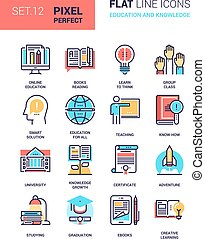 Education and Knowledge - Vector set of education and...