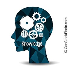 Education and knowledge graphic design, vector illustration ...