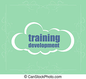 Education and learn concept: Training Development . Word cloud. Successful idea for business