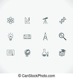 Education and learning modern line icons - Set of education...