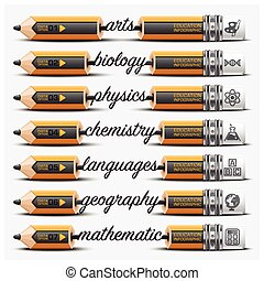Education And Learning Step Infographic With Carve Pencil Lead Subject