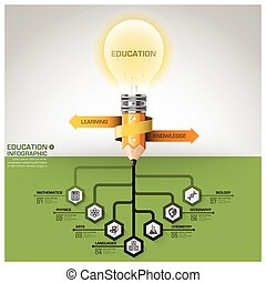 Education And Learning Subject Tree Root Step Infographic Diagram