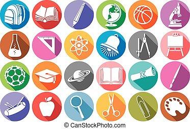 school flat school flat icons