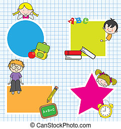 Education and school icon set