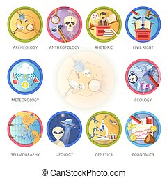 Education and science disciplines for school or university...