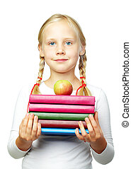Education - Back to School! Cute child with books