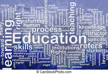 Background concept wordcloud illustration of education international