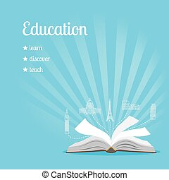 Education background with text