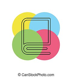 education book icon - library or bookstore