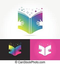 Education book logo vector design
