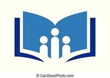 education book school library logo