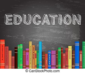 Education books blueprint education word on blueprint with education books blackboard malvernweather Image collections