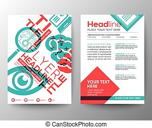 Education Brochure Flyer design Layout template in A4 size