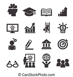 education, business, icône