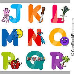 Education Cartoon Alphabet Letters for Kids - Cartoon...