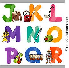 Education Cartoon Alphabet Letters for Kids - Cartoon ...