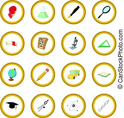 Education cartoon icon circle