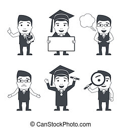 Education characters set
