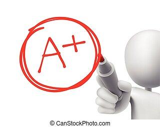 education, classement, plus, écrit, par, 3d, homme