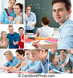 Education collage