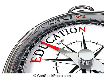 education compass - the way to education indicated by...