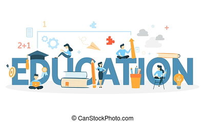 Education concept animation. idea of learning and studying....