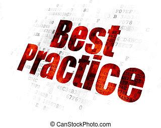 Education concept: Best Practice on Digital background