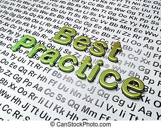 Education concept:  Best Practice on Alphabet background