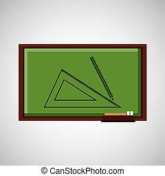 education concept blackboard with geometry