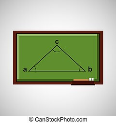 education concept blackboard with triangle angule