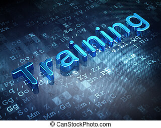 Education concept: Blue Training on digital background